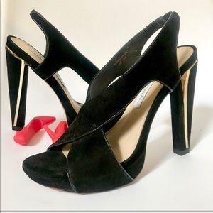DVF Open Toe High Heels Julie Crisscross Sandals